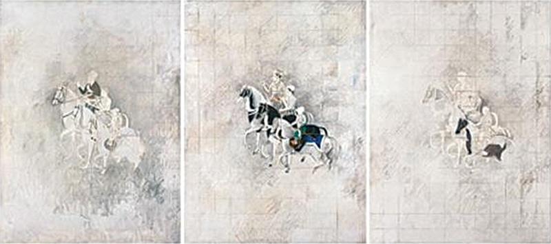 Zahoor ul Akhlaq, Shah Jahan Triptych, 1981